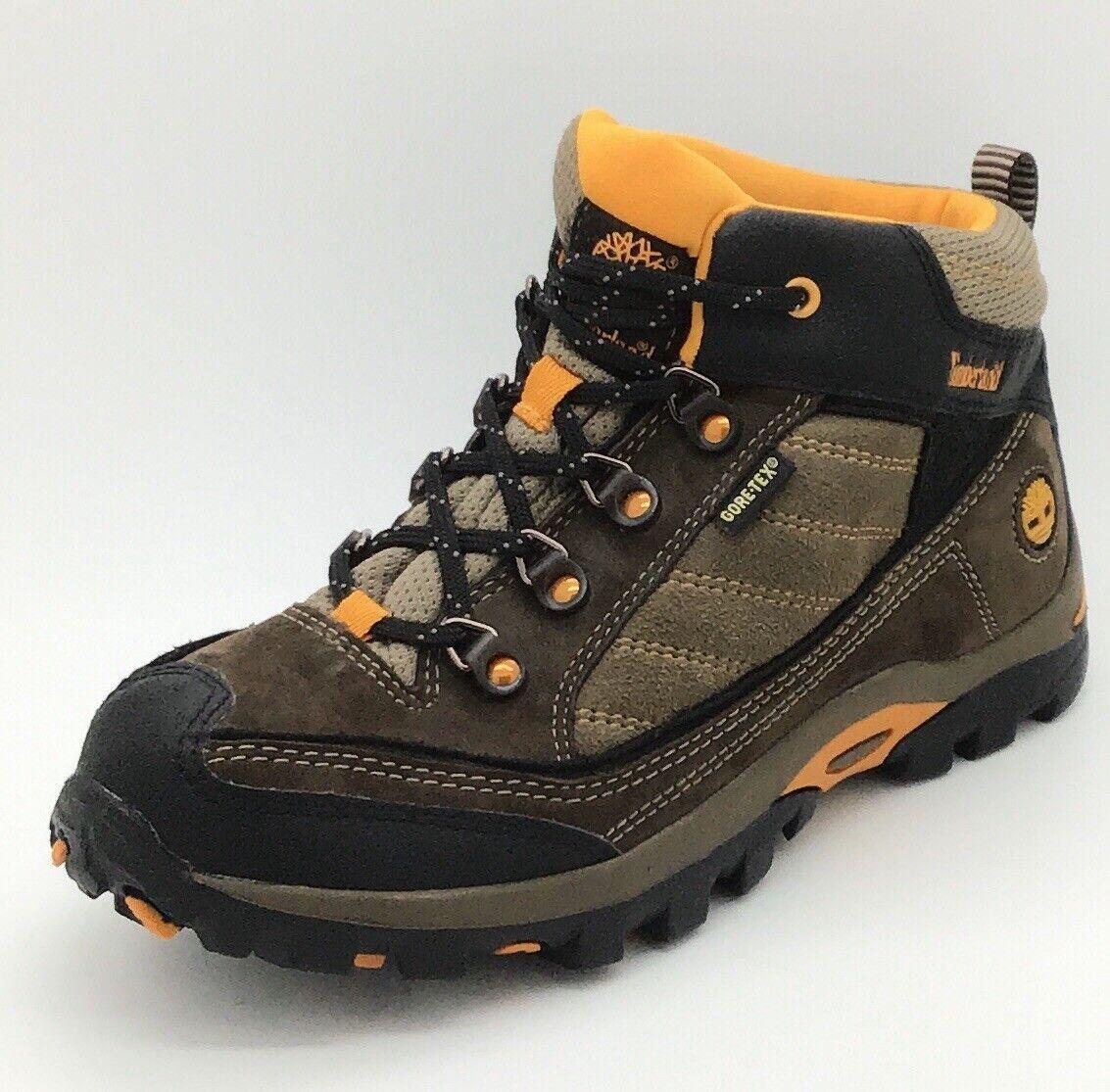 Timberland Junior Boys Hyprtrl GTX Mid Brown Trainer Boots UK 4.5 - 37918**