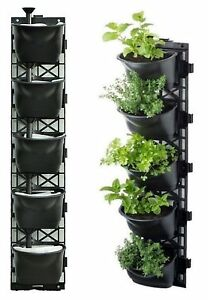 Vertical Garden Kit Wall Hanging Flowers Gardening Plants Herbs Pots