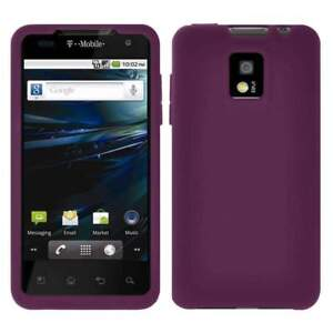 AMZER-Silicone-Soft-Skin-Jelly-Case-Cover-For-LG-Optimus-2X-P990-Purple