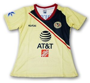 los angeles d5f48 40039 Details about Club America Women's Home Soccer Jersey 2018 Slim Fit 100%  Polyester FMF