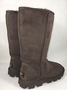 a63809b8d8b Details about UGG Australia Women's Essential Tall Boots Chocolate Brown  Size 5 6 Style 5845