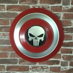 Prudent Escudo Punisher Capitan America Hierro, Cosplay Para Niños 47 Cm Metal Shield
