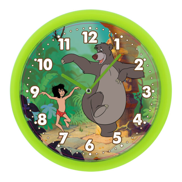 Disney The Jungle Book Vert Horloge Murale wbdi 307