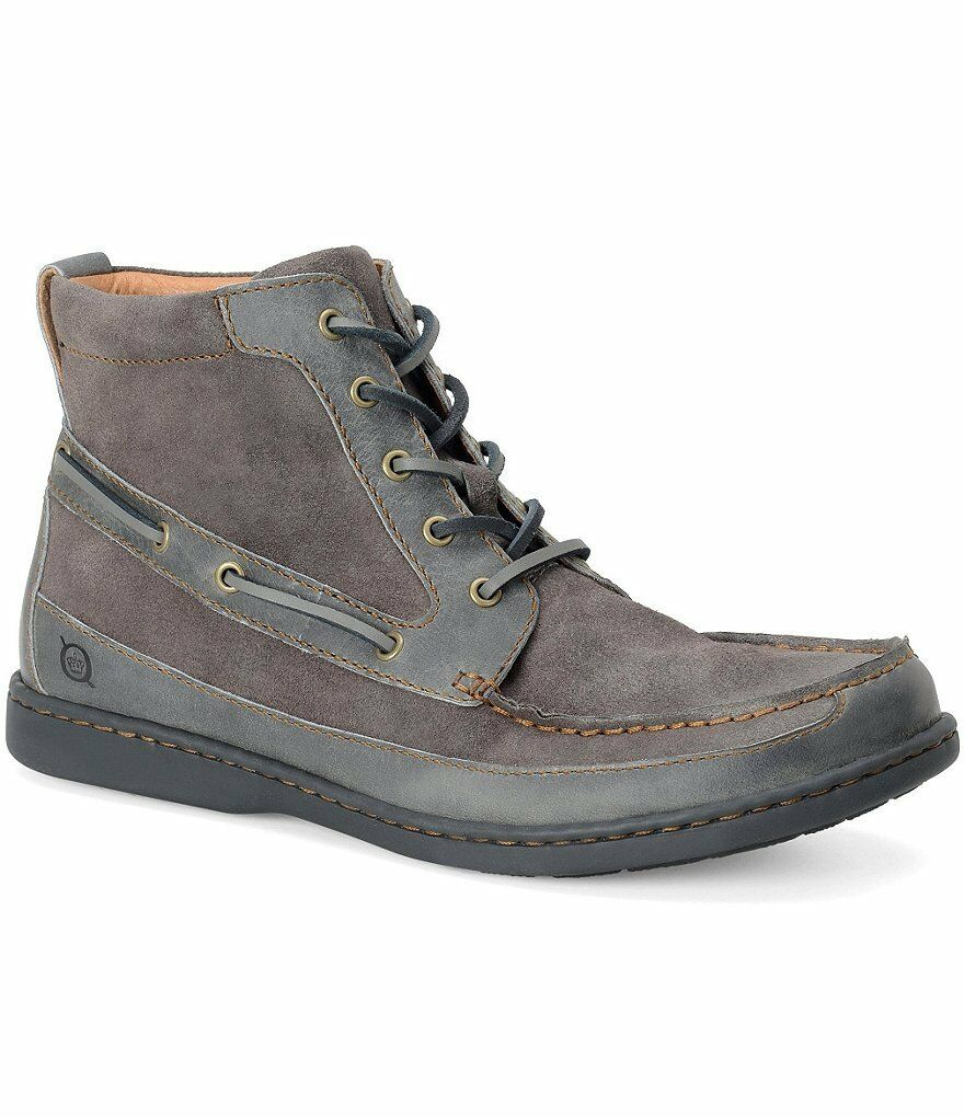Born Mens Murray Lace Up Moc Toe Casual Comfort Walking Ankle Boots Shoes
