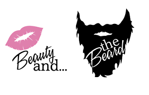 Beauty And The Beard Wine Beer Glass Vinyl Decal Sticker