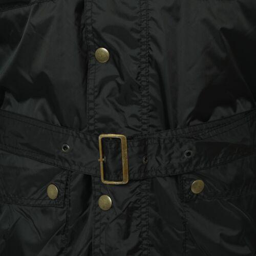 in Uk trapuntato Cappotto uomo cintura da Made nera pelle trapuntato con In Ken UgxwAxqHn