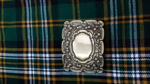 Men's Scottish Kilt Belt Buckle Scrolling Thistle Antique Finish Piper Buckles