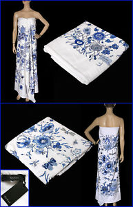 NEW GUCCI BLUE FLORA PRINT TOWEL from CRUISE COLLECTION