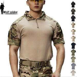 Army-Mens-Military-Short-Sleeve-T-Shirts-Tactical-Combat-Casual-Camouflage-Shirt