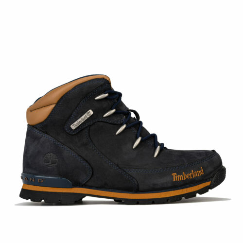 Lace Fastening Cushioned Junior Boys Timberland Euro Rock Hiker Boots In Blue