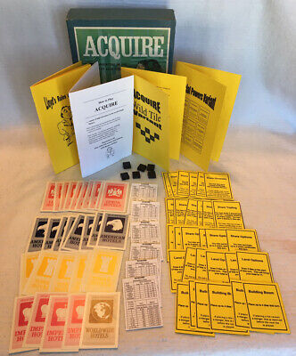 Details about  / 1999 Edition SPV 3 KITS ONLY ACQUIRE Game Variant Kits W//T /& 1963