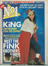No1 UK Magazine 1985 Big Country Poster Eurythmics Sheila E Prince New Wave Rare