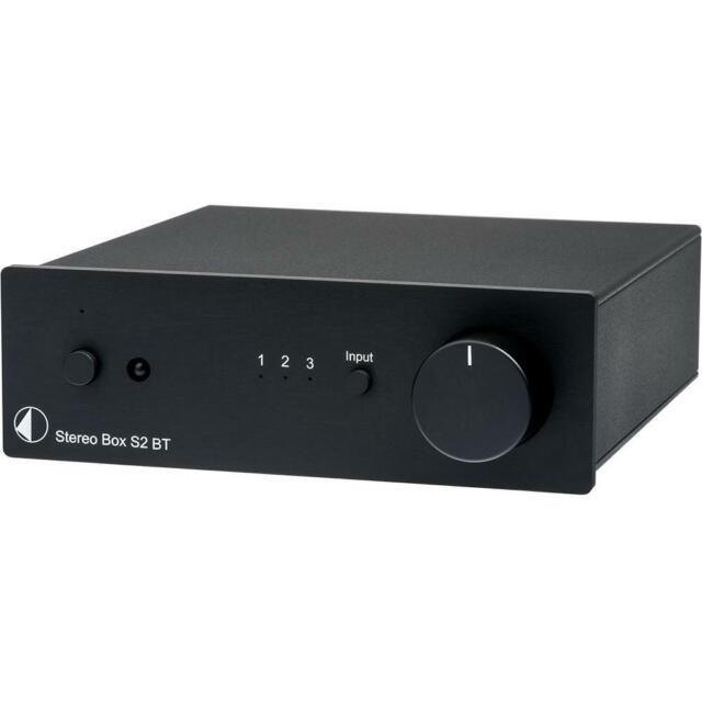 Pro-Ject Stereo Box S2 BT High End Vollverstärker + Bluetooth Empfänger schwarz