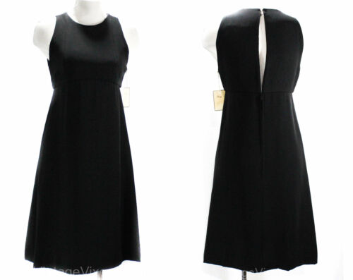 Size 8 Little Black Dress - Posh Designer 60s Slee