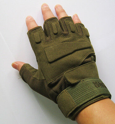 Outdoor Military Tactical Airsoft Hunting Riding Half finger gloves