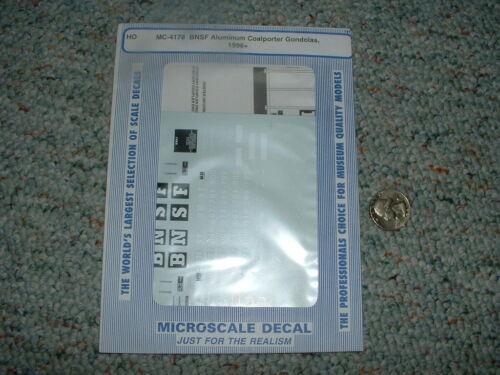 Coalporter gondolas 1996 Microscale decals HO MC-4178 BNSF Alum C66