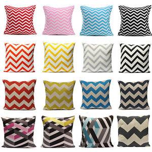 Geometric-Stripe-Wave-Zig-Zag-Pillow-Case-Cushion-Cover-Linen-Cotton-Home-Decor