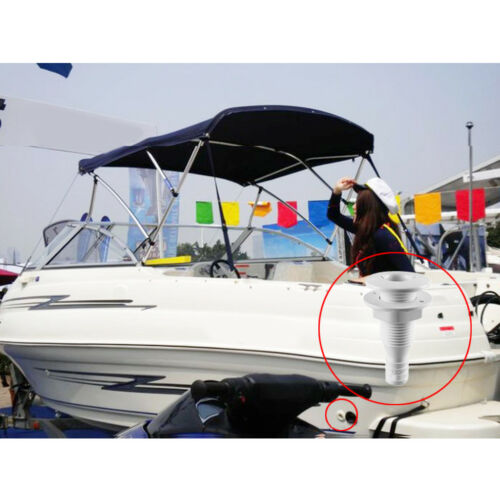 """Marine//Boat Straight Connector Thru Hull Plumbing Fitting for 3//4/"""" Hose"""