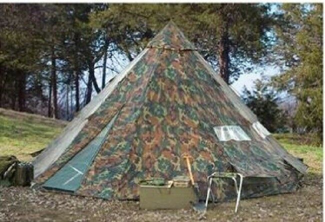 18' x 18' Camo Teepee Tent campeggio Scout Family Huge all'aperto Waterproof Sleep 12