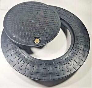 Polymer Water Meter Box Cover Ring W 12 5 Locking Lid For 18 Pipe Meter Pit Ebay