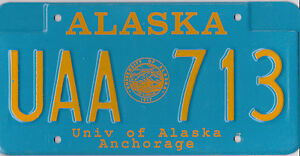 AUTHENTIC-USA-90-039-s-ALASKA-ANCHORAGE-LICENSE-PLATE