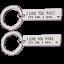 Je vous aime plus plus la fin je gagne les couples Nouveauté Porte-clés acier cadeau Keychain
