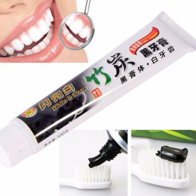 100g Bamboo Charcoal All-Purpose Teeth Whitening Clean Black Toothpaste Care JM