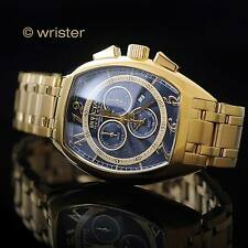Invicta Reserve Men's Swiss Chronograph 18k Gold Plated SS 43mm Blue Dial Watch