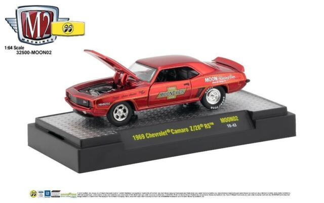 M2 Chevrolet Camaro Z28 Rs 1969 Mooneyes Moon02 1/64
