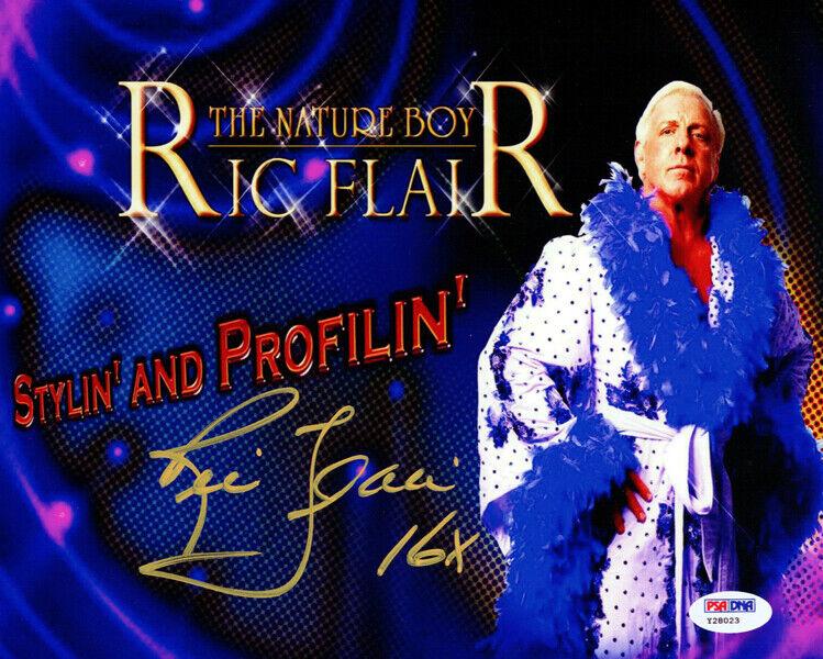 JSA Certified Pose 6 Wrestling coa Autographed Wrestling Photos Ric Flair autographed 8x10 Photo