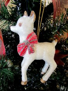 image is loading vintage ceramic glittered rudolph the red nosed reindeer