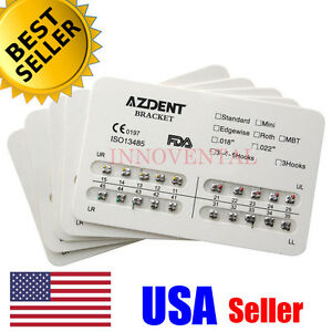 5x-Pack-AZDENT-Dental-Orthodontic-Metal-Brackets-Mini-Roth-022-345H
