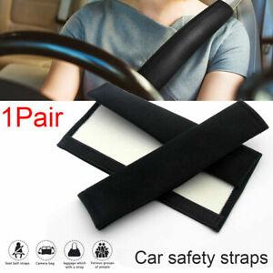 2x Car Soft Plush Seat Belt Shoulder Pad Harness Safety Strap Cushion Cover