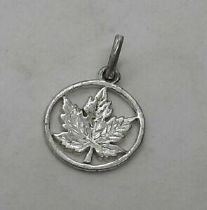 Vintage Sterling Silver Maple Leaf Charm
