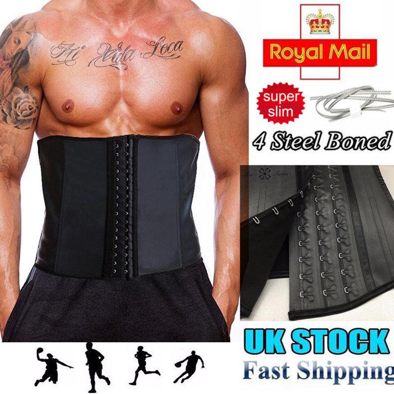 Unisex Waist Trainer Latex Belt Zipper Body Shaper Sport Corset Girdle Slim Belt
