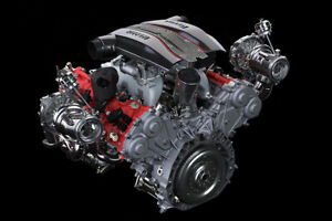"Ferrari 488 Pista Engine Metal Print-FujiFilm Poster Large 36/"" x 24/"""