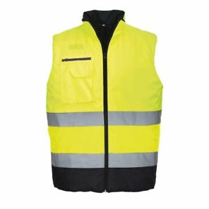 BEESWIFT BWENG Hi-Vis Reversible Interactive Bodywarmer Reflective Tapes