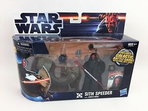 Star-Wars-Darth-Maul-Action-Figure-amp-SITH-SPEEDER-Bike-w-Probe-Droids-Episode-1