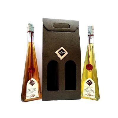 Conf. Regalo, 2x500ml: Liquore di Genziana ed allo Zafferano - Dolci Aveja