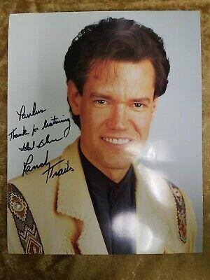 "Entertainment Memorabilia New Fashion Randy Travis 8x10"" Autographed Signed Picture By Scientific Process"