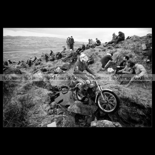 #phm.56285 Photo S M MONK FANTIC 240 SSDT SCOTTISH SIX DAYS 1983 Motorcycle