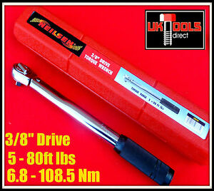 torque wrench 3 8 drive 5 80ft lbs 60 960in lbs 6 8 108 5 nm. Black Bedroom Furniture Sets. Home Design Ideas