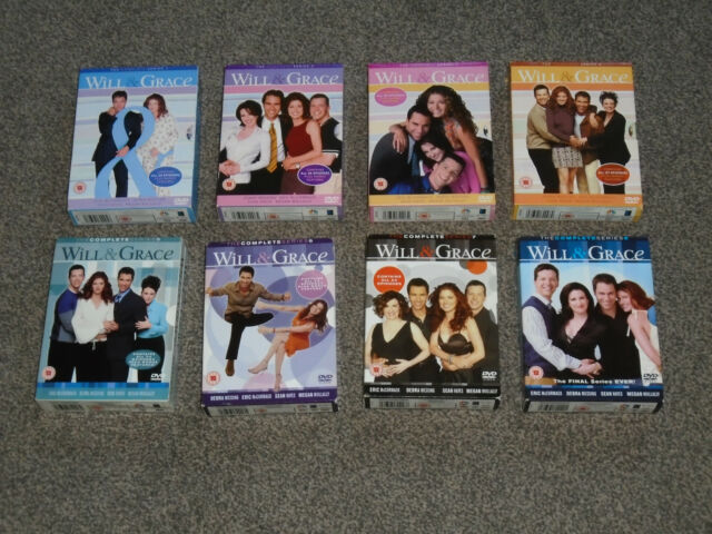 WILL & GRACE : THE COMPLETE SERIES 1 - 8  INDIVIDUAL DVD BOX-SETS (FREE UK P&P)