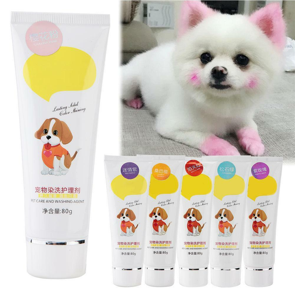 Pet Dog Hair Color Dye 80G Harmless Natural Dyeing Coloring ...