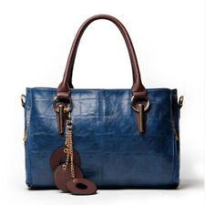 Women's Fashion Handbag Leather Shoulder Bag Trendy Message Bag Blue