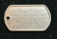 x2 SET Custom DOG TAGS USA MADE STAINLESS STEEL MATTE by Military COMBAT Veteran