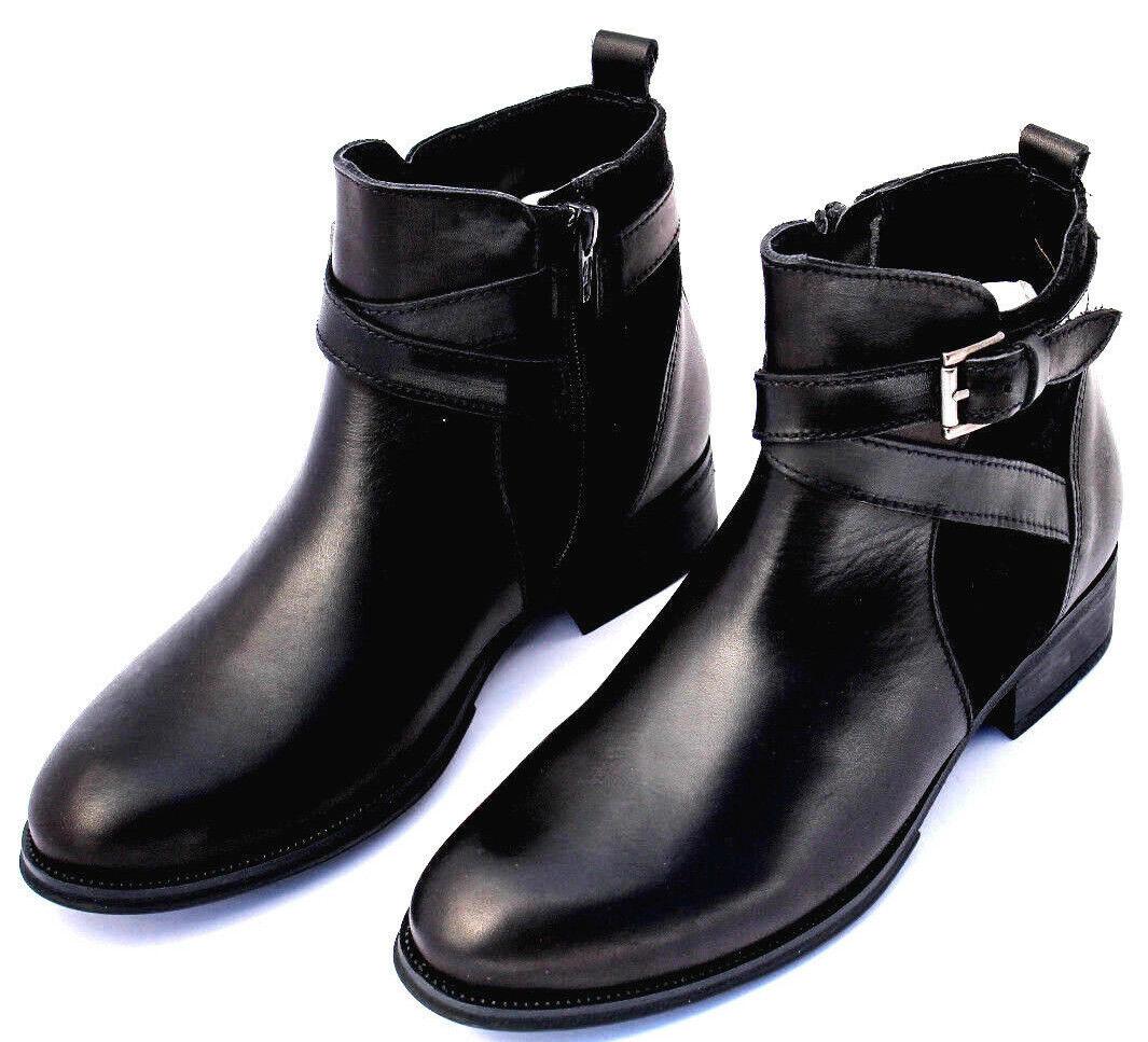 Pelle da Donna Stivaletti Metà Stivali Stivali Ladies Leather stivali dosdedos | Un equilibrio tra robustezza e durezza  | Gentiluomo/Signora Scarpa