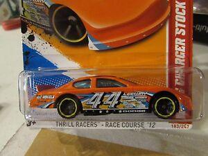 Hot Wheels Dodge Charger Stock Car Thrill Racers Orange Ebay