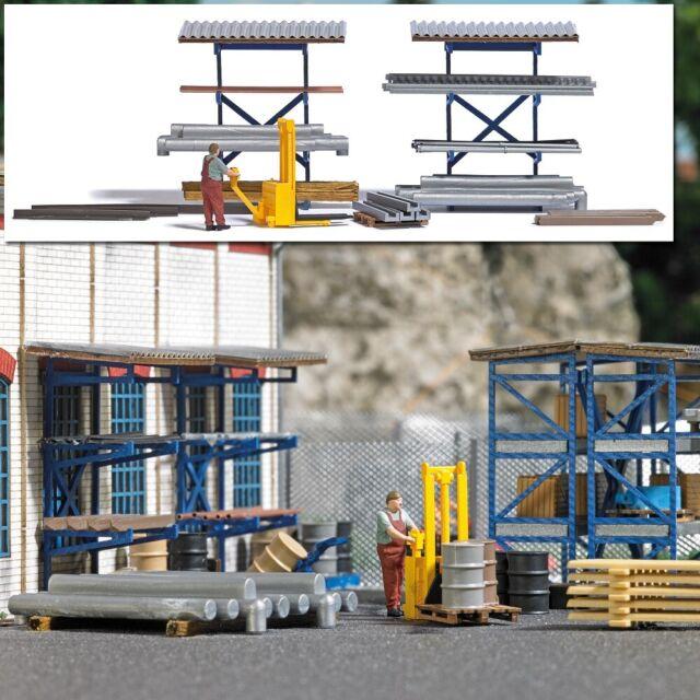 Busch 7844 - 1/87/H0 Action Set: High Lift Truck - New