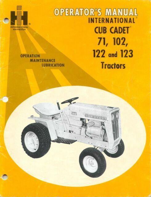 Ih International Cub Cadet 71 102 122 Rotary Mower And Engine Manual Set For Sale Online Ebay